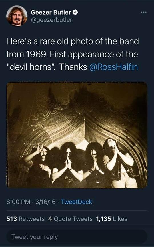 Black Sabbath Devil Horns